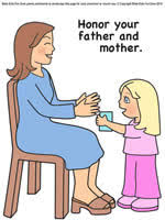 Printable Mothers Day Lesson Color Illustrated Story Picture
