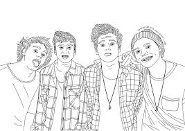 Coloring Pages 5 Seconds Of Summer Cartoon By Page
