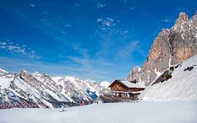Winter Landscape In Dolomites At Cortina DAmpezzo Ski Resort