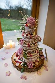 Rustic Winter Wedding By Mark Tattersall Naked Cake