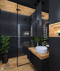 the floating sink and lack of clutter to the room