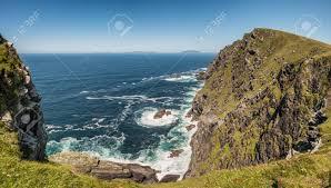 100 Bray Island Head And The Atlantic Ocean On Valentia In Ireland Stock
