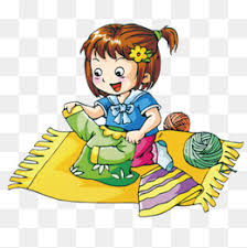 Folding Clothes Picture Fold Child Obedient Children PNG Image