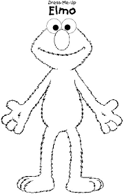 Elmo Coloring Pages Med Page
