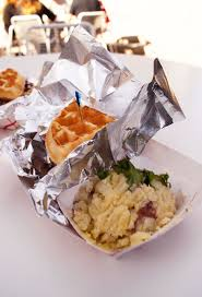 Off The Grid Food Truck Waffle Sandwiches And Melt In Your Mouth ...