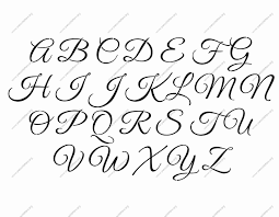 Alphabet Letters In Fancy Cursive