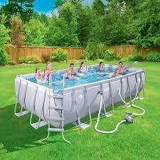 Walmart Clearance Coleman Power Steel 18 X 9 48 Rectangular Frame Swimming Pool Set