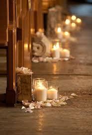 Elegant Wedding Candles Decorations 1000 Ideas About Church On Pinterest