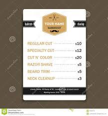 Barber Shop Hair Design Ideas by Hair Salon Barber Shop Business Card Design Template Stock Vector