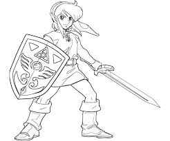 Zelda Coloring Pages For Boys