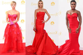 Hollywood Stars All Red At Emmy Awards Night