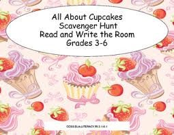 All About Cupcakes Scavenger Hunt Read And Write The Room
