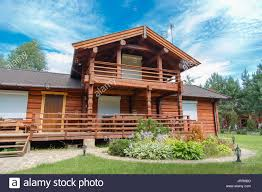 100 Modern Wooden Houses A Modern Wooden House Made Of Logs View From Outside In Summer