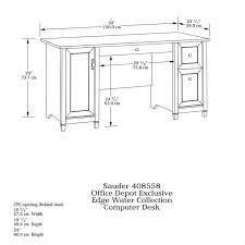 Sauder Heritage Hill 60 Executive Desk by Computer Desk In Estate Black 408558
