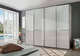 wiemann shanghai 2 kleiderschrank schwebetürenschrank schlafzimmerschrank mit schiebetüren breite 300 cm weiß glas grau kieselgrau holz b h t