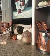 Textures Of Fall Pumpkins Acorn Home Decor Entertaining Tablescape Counter Kitchen Barware Copper HomeGoods 921x1024
