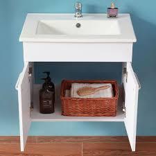 badmöbel set weiß 60 cm keramikbecken mit unterschrank