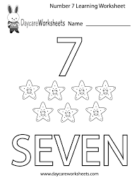 This Free Printable Worksheet Helps Preschoolers Learn The Number Seven By Coloring In