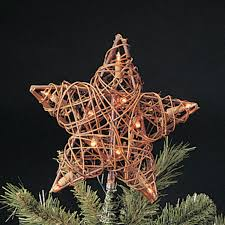 Christmas Tree Amazon by Amazon Com Natural Rattan 3d Star Christmas Tree Topper Clear