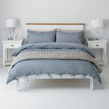 Buy John Lewis Chambray Ties Duvet Cover And Pillowcase Set Blue Online At Johnlewis