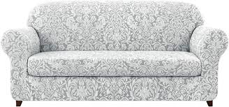 Subrtex Sofa Slipcover 2-Piece Jacquard Damask Couch Cover With Seat  Cushion Stretch Furniture Protector For Armchair In Living Room For Kids,  Pets ... Shabby Chic Ding Room Chair Covers Kallekoponnet King Hickory 6800 85 Firmcushion Camel Back Sofa Stuckey Monthly Archived On October 2019 Magnificent Insane Garage Labor Day Sales Are Here Get This Deal Brownwhite Lancer 3600 Traditional Camelback With Skirt Westrich 15 Inexpensive Chairs That Dont Look Cheap Slipcover Arm Sandspur Beach Linen Sold Out Chippendale Style Mahogany Settee By Conover Co Fniture Smooth And Simple Slipcovers For Decor Ideas Vintage Floral Print Objects