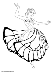 Free Mariposa Barbie Coloring Pages To Print Of