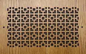 Decorative Return Air Grille 20 X 20 by 14x20 Oak Squares Cold Air Return Grille Wood Squares Design