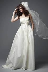 TAFFETA CRUMB CATCHER NECKLINE SPAGHETTI STRAPS WEDDING DRESS