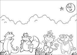 Doras Friends Coloring Page
