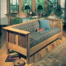 View A Larger Image Of Downloadable Woodworking Project Plan To Build Arts And Crafts Mission Sofa