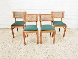 mid cenrtury stuhl esszimmer retro holz wiener geflecht design 60