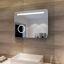 sonni led bad spiegel 80 x 60cm wandspiegel badezimmer lichtspiegel badspiegel mit beleuchtung mit kosmetikspiegel sensorschalter