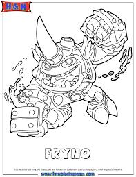 Skylanders Swap Force Fire Fryno Coloring Page
