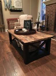 rustic coffee table free plans living room tutorials