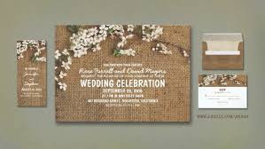 Burlap And Flowers Rustic Wedding Invites