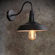 loft vintage black lshade wall lights industrial warehouse wall
