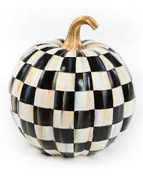 Mackenzie Childs Painted Pumpkins by Mackenzie Childs Courtly Check Lidded Great Pumpkin Neiman Marcus