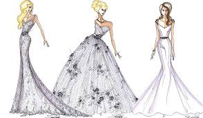 Wedding Dress Sketches Prom Design Lunss
