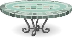 Table Patio Mosaic Home Furniture House Summer