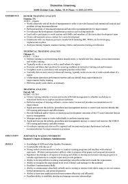 Download Training Analyst Resume Sample As Image File