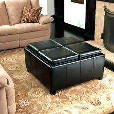 Coffee Table Storage Ottoman With Tray Ottomans Tray Top Ottoman