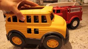 Green Toys Fire Engine, School Bus, Dump Truck, And Garbage Truck ... Learn Colors For Children With Green Toys Fire Station Paw Patrol Truck Lil Tulips Floor Rug Gallery Images Of Ebeanstalk Child Development Video Youtube Toy Walmart Canada Trucks Teamsterz Sound Light Engine Tow Garbage Helicopter Kids Serve Pd Buy Maven Gifts With School Bus Play Set Little Earth Nest