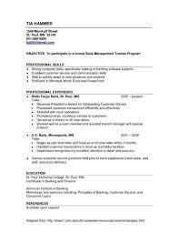 Sample Resume For Retail Banker