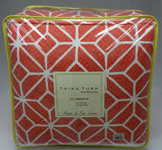 Coral Colored Bedding by Trina Turk Trellis Coral King Comforter Set