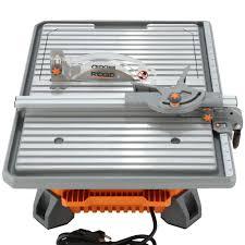 ridgid 7 portable site tile saw 6 5 induction motor
