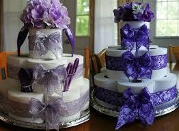 torte toilettenpapier selber machen violett lila schleife