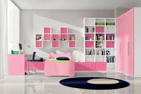Pink And White Bedroom Matching With Wall Cabinet Also Lower Next To The Bed Combined Curtained Window For Tween Ideas