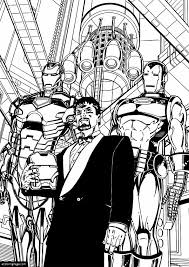 Iron Man 3 Is Tony Stark Coloring Page