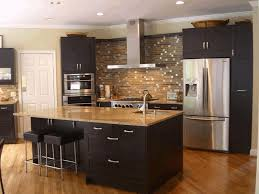 Kitchen Dark Hardwood Floors With Cabinets Mahogany Wood Cabinet Beige Soil Jar Style Decor
