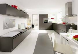 Cheap Gray Kitchen Cabinets With White Appliances For Modern Interior Design Grey